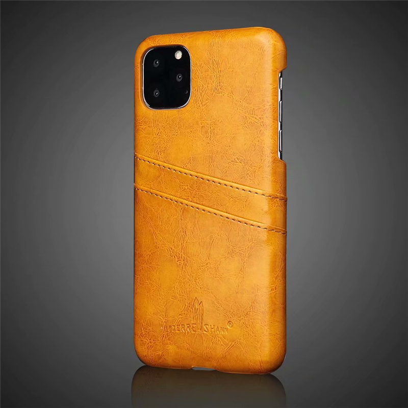 Slim Hard Leather Card Holder Case for iPhone 11/11 Pro/11 Pro Max 12