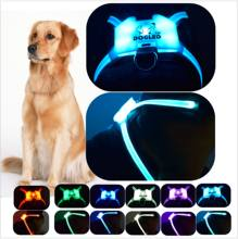 DOGLED harness Pet Products for Large 7 in 1 color Dog Harness k9 Glowing USB Led Collar Puppy Lead Pets Vest Dog Leads(China)