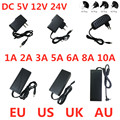 AC 100V-240V DC 5V 12V 24V светильник ing трансформатор 1A 2A 3A 5A 6A 8A 10A Питание адаптер конвертер для Светодиодный полоски светильник CCTV
