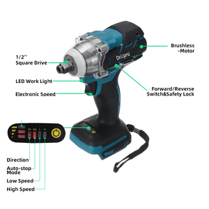 Image 3 - Drillpro 18V Electric Brushless Impact Wrench Cordless 1/2 Socket Wrench Power Tool Rechargeable For Makita Battery DTW285Z