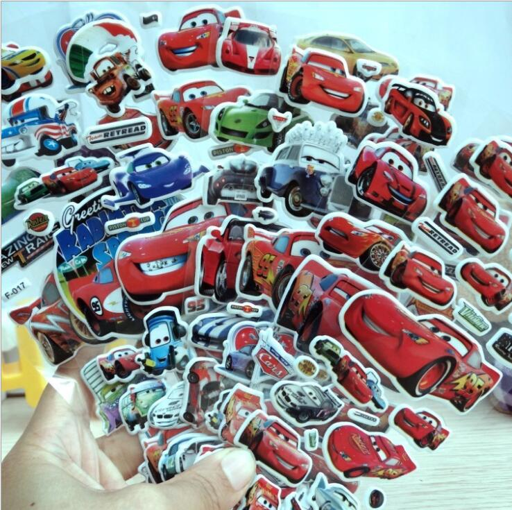 Stikers Disney Cars Movie Lightning Mc.Queen Waterproof Sticker Black Storm Ramirez Mater Jackson Stickers For Notebook Suitcase