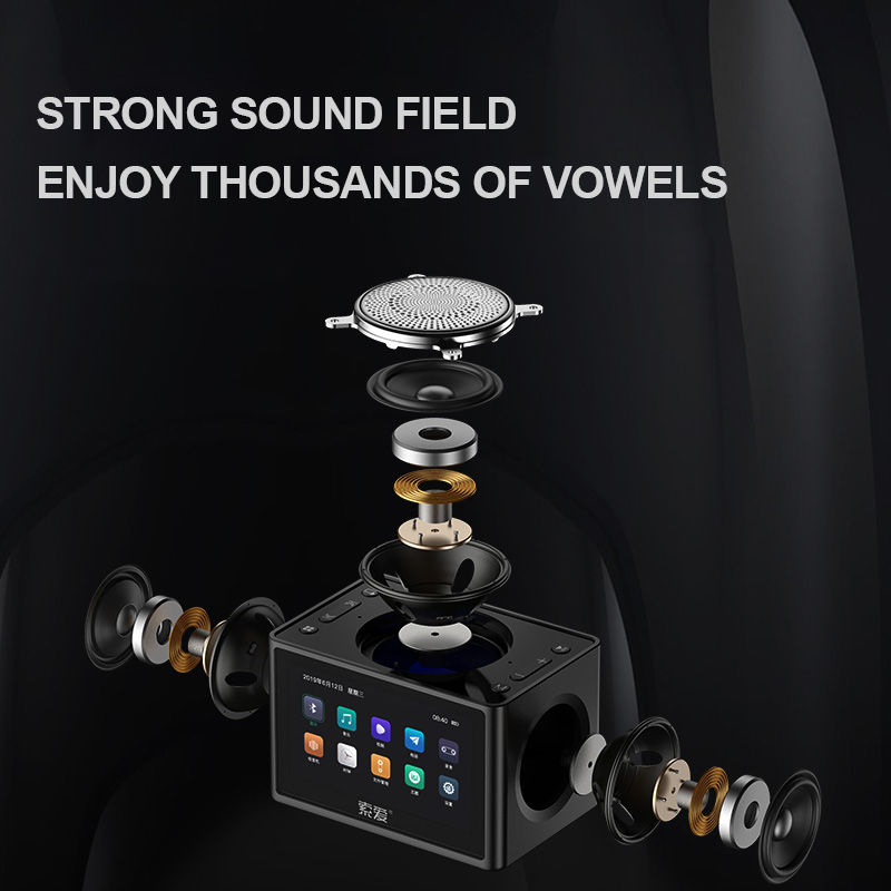 K6 New Wireless Bluetooth Video Speaker Mini Subwoofer Home HD Radio Portable Car Computer Speakers Support Alarm Clock TF USB 3