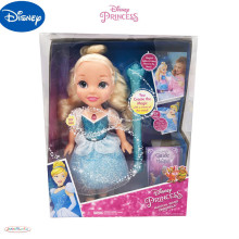 Disney A Cinderella Story Dolls Prince Princess Magic Wand Doll Flash Lamp Birthday Gifts Cute Girls Clothes Gift Free Shipping disney princess игровой набор с мини куклами petite princess cinderella and prince charming