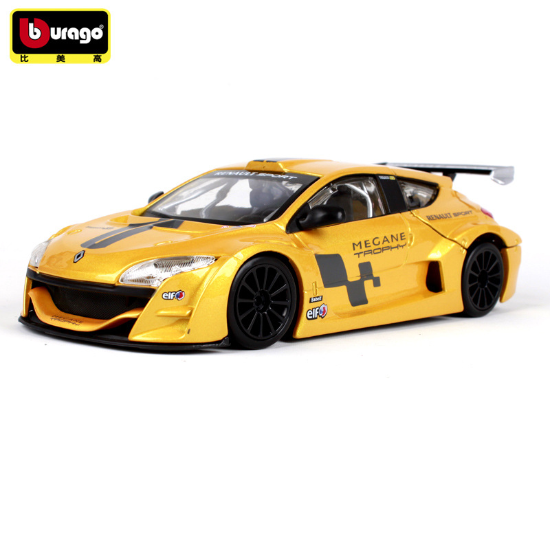 Bburago 1:24 Renault Megane Simulation Car Model Racing Edition  Alloy Car Model Simulation Car Decoration Collection Gift Toy
