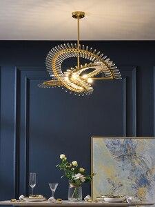 Image 4 - الحديثة الفاخرة كريستال الثريا مطعم فيلا مستديرة دوبلكس بناء LED مصباح مصمم معرض مصباح لغرفة المعيشة