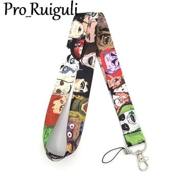 30pcs Michael Myers Horror characters Neck keychain necklace Anime Cartoon Neck Strap Lanyard ID badge holder Keychain Lanyards фото