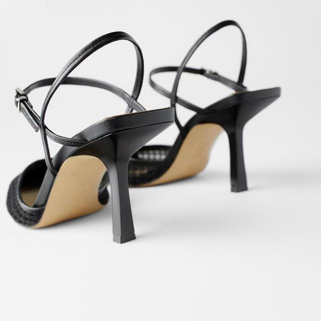 Босоножки на каблуке, сетчатые дышащие для лета 5