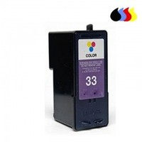 18C0033 ממוחזר מחסנית עבור LEXMARK צבע (N 33) 3x4 ml