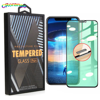 Green Tempered Glass for iPhone 11 Pro MaxProtect Eyes New Technology Screen Protector for iPhone XR XS Max i7/8 Plus Free Frame
