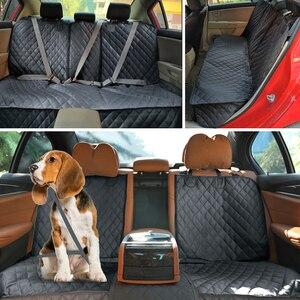 Image 3 - כלב רכב מושב כיסוי עמיד למים רכב אחורי חזרה מחצלת כלב מנשא לחיות מחמד נסיעות חתול כלבים כרית מגן עם התיכון מושב משענת יד
