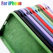 Original de silicone líquido luxo apple capa protetora para iphone 11pro 12 pro max 11 6 s 7 8 x xs xr plus 2020 se e p mini