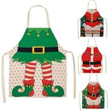 Adornos navideños para el hogar 1 Uds Santa Claus delantal de Navidad decoración Santa Claus Año nuevo regalo de Navidad 66x47cm
