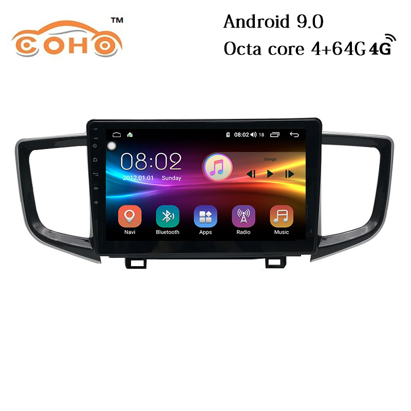 <font><b>Pilot</b></font> Android 9.0 Octa Core 4+64G Stereo Multimedia <font><b>Gps</b></font> Navigation Car Radio <font><b>For</b></font> 2016-2018 <font><b>Honda</b></font> <font><b>Pilot</b></font> image