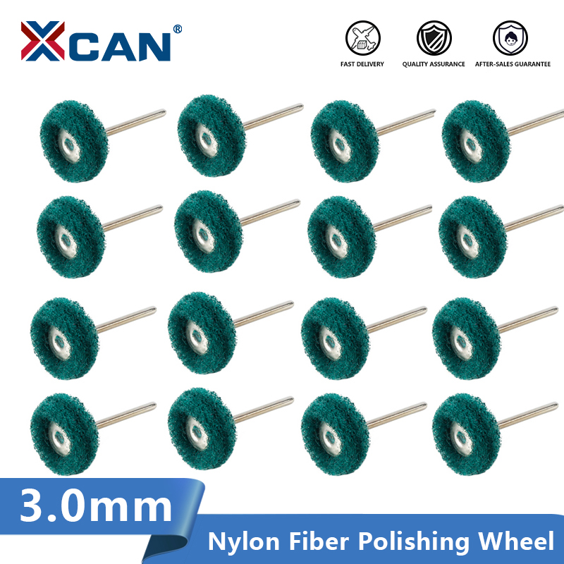 XCAN Nylon Fiber Polishing Wheel With 3.0mm Mandrel For Dremel Rotary Tools Abrasive Brush
