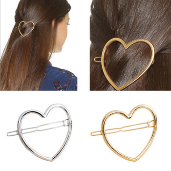 Girls Star Heart Hairclip Delicate Hairpin Hair Decoration Jewelry Hair Clips Fashion Women Hair Accessories image