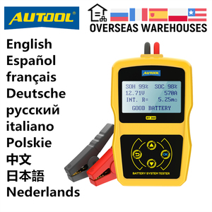 Image 1 - AUTOOL BT360 12V Auto Battery Tester 12v Car battery analyzer Cranking Multi Language Diagnostic Tool Performance than bt460