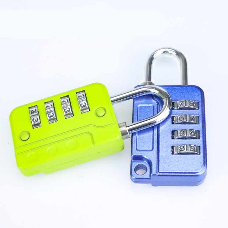 New luggage bag password lock padlock zinc alloy 4-digit combination lock can be used for suitcases and other valuables lock