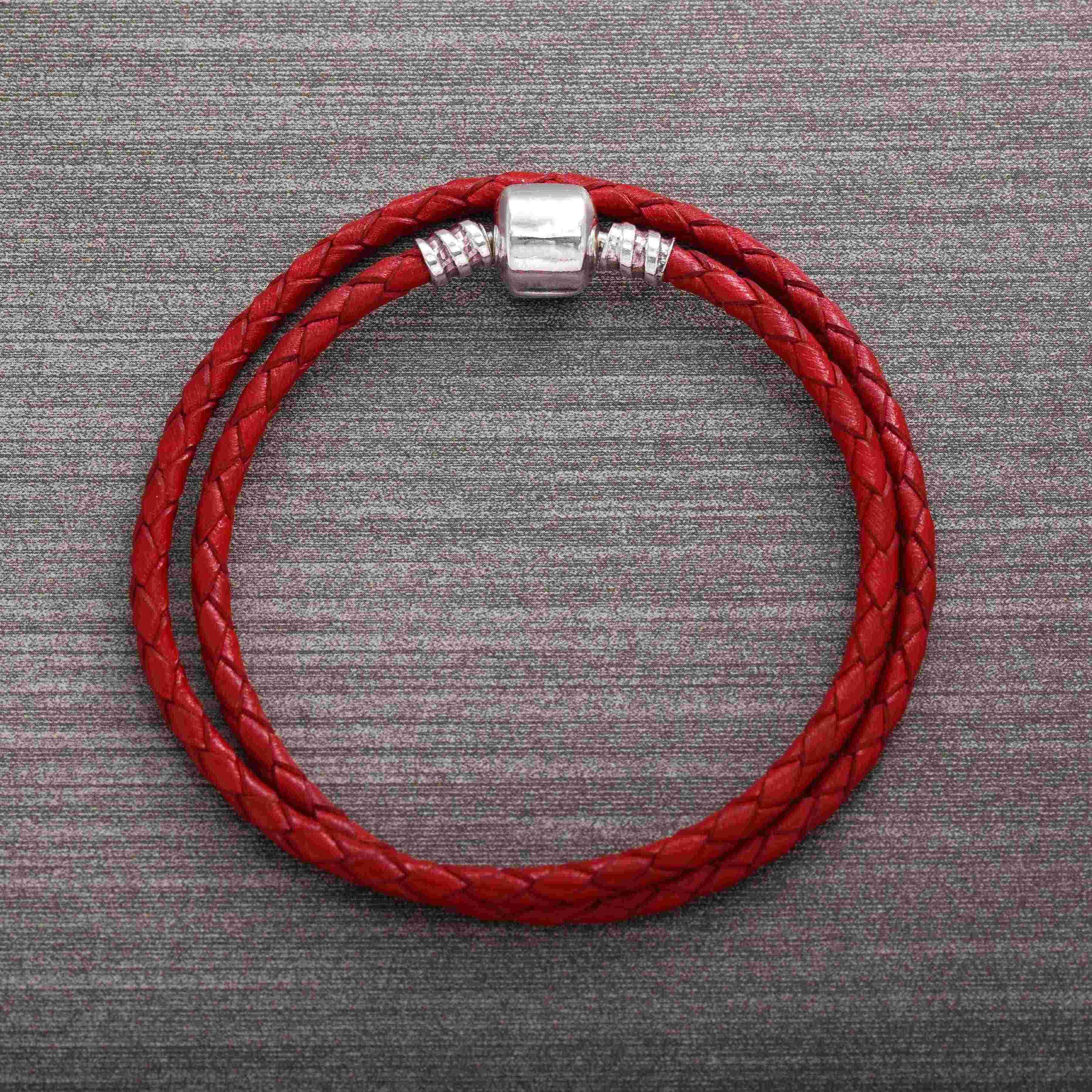 Ajax 14 Color Wholesale Long Chain Buckle Unisex Leather Pan Bracelets For Women Fashion Jewelry