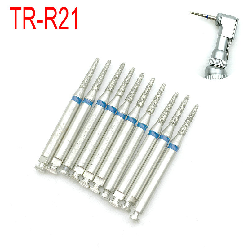 broca dentaria de diamante para dentista broca com 10 pecas para uso de dentistas com angulo