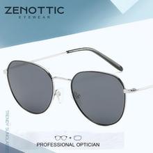 Мужские поляризационные солнцезащитные очки zenottc с круглой
