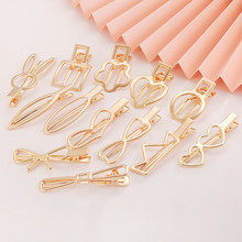10Pcs Fashion Hair Clips Metal Hollow Heart Hairpin Hair Clips With Blank Setting Base For Jewelry Making DIY Hair Accessories
