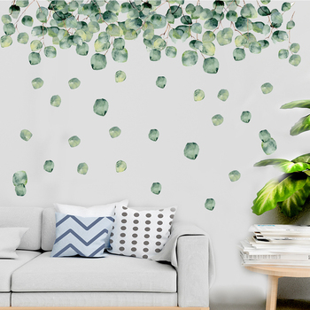 1 Set Of Green Foliage Leaves Botanical Wall Stickers