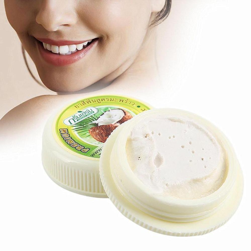 Coconut Toothpaste Whitening Tartar Smoke Stains Black Yellow Stains Teeth Whitening Toothpaste Clean Teeth Antibacterial To