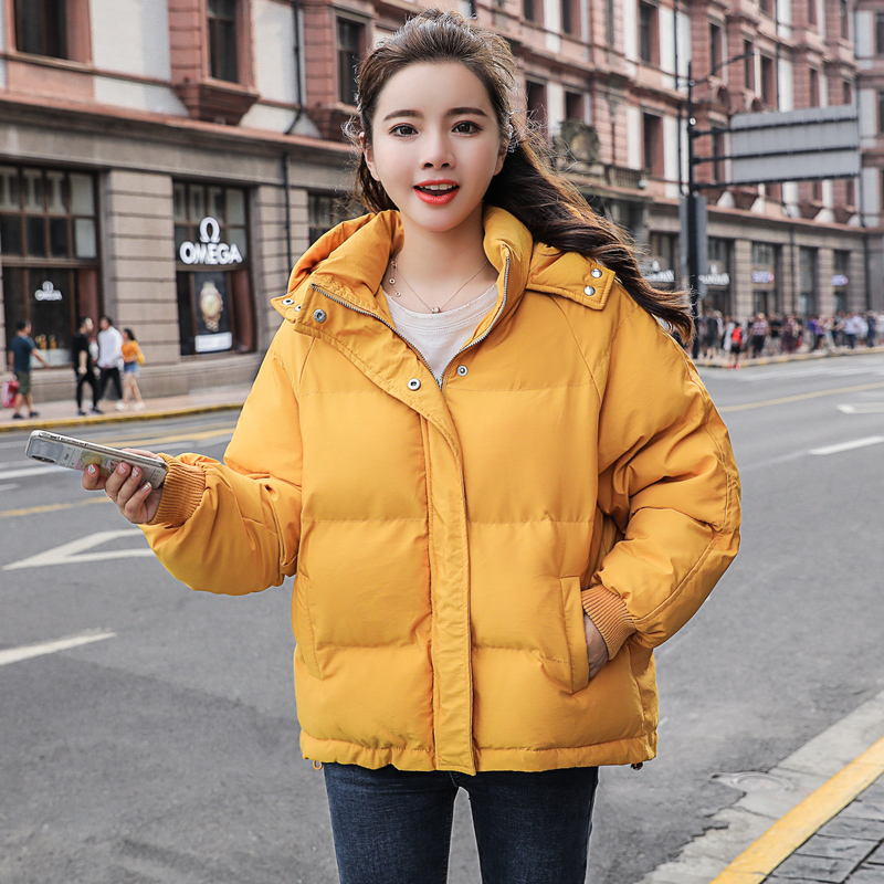 2019 New Autumn Winter Jacket Hooded Women Coat Loose  Cotton-padded Short Jackets Female Parka Warm Casual Plus Size Overcoat 1