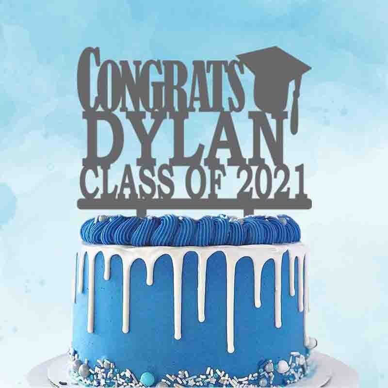 2021 personalizado graduación bodas Topper personalizado nombre años felicitaciones de graduación de la clase de 2021 para la graduación Decoración de Pastel de fiesta