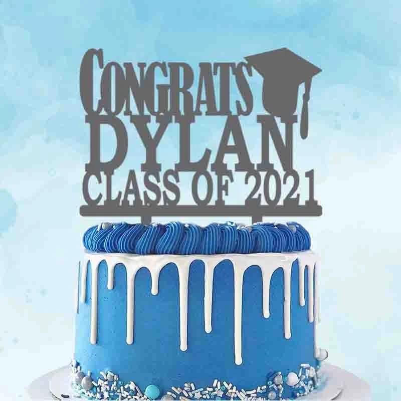 Personalized Cake Topper Graduation Centerpiece Class of 2021,