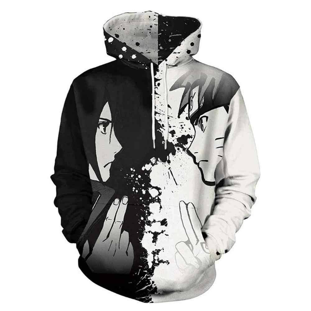 KJAHS Mens Patterns Print 3D Anime Hoodies Mangekyo Sharingan Boruto Sweatshirts