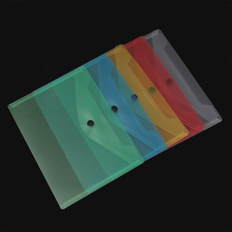 10pcs/set Transparent Plastic A5 Folders File Bag Document Hold Bags Folders Filing Paper Storage Office School Supplies