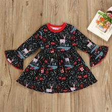 Christmas Dress For Girls Toddler Kids Baby Girl Christmas Pring Dress Girls Boutique Clothing Children Dress цены онлайн