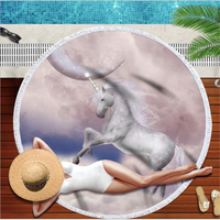 Bath Towels for Adults Beach Towels Cute Cartoon Unicorn Spa Towel Printed Machine Washable Quick Dry Towels Bath Towels