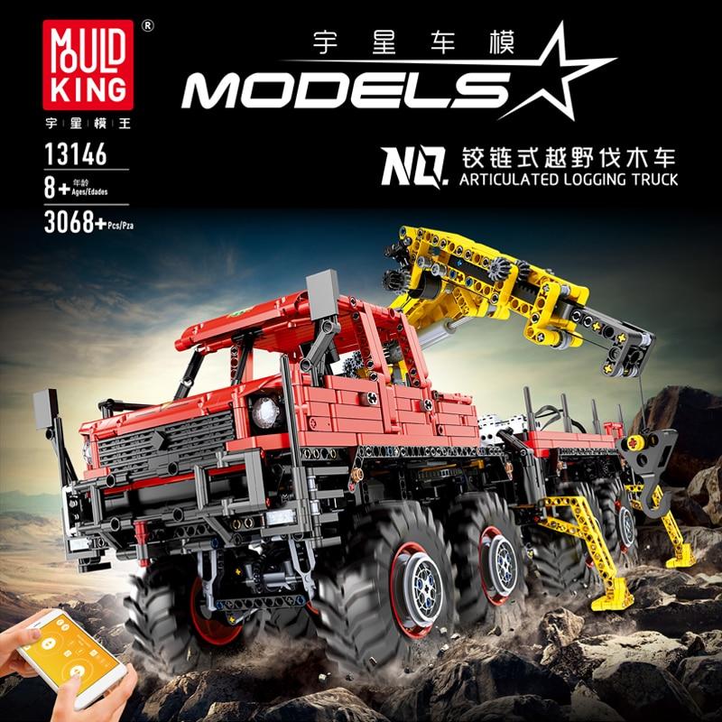 Приложение RC Technic серия кирпичи MOC сочлененные лесозаготовки Машины Строительство города строительные блоки Совместимые модели lepining игруш