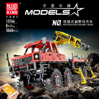 APP RC Technic Series Bricks MOC Articulated Logging Trucks Car Construction City Building Blocks Compatible lepining Model Toys