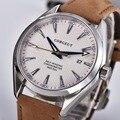 Reloj Automático Corgeut de lujo, relojes de pulsera de cuero para hombre, reloj deportivo impermeable de zafiro, reloj masculino de viento automático 3021B