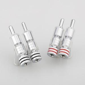 Image 2 - Audiocrast Hi End Rhodium Plated LOCK SPEAKER CABLE BANANA PLUG CONNECTOR DIY Speaker Cable