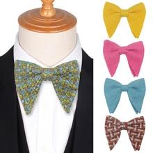 Мода Треугольник Мужчины Галстук Классический Большой Боути Для Женщин Бантом Для Взрослых Мужские Галстуки Свадебная Вечеринка Галстуки
