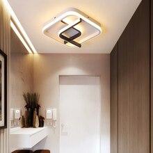 Luz LED de araña moderna lámpara de pasillo para la sala de entrada de la casa iluminación cuadrada decorativos para el hogar Accesorios Dropshipping. Exclusivo.