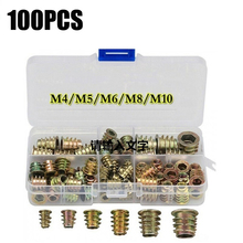 100PCS Steel Rivet Nut Rivnut Insert Nutsert KIT M4 M5 M6 M8 M10 for Rivet Nut Gun Riveting Riveter Tool
