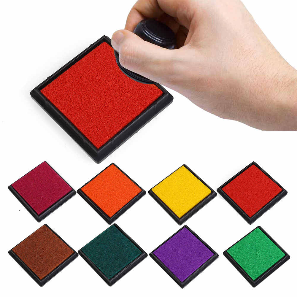 15 Colors Durable DIY Craft Oil Based Stamp Ink*Pad Print For Stamps Wood