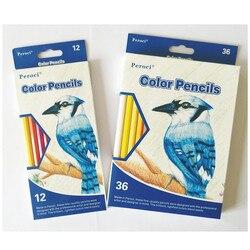 12/36 kolorów tłustej kolorowe kredki artysta ręcznie malowanie farbowanie ołówek drewniany ołówek szkolne artykuły artystyczne