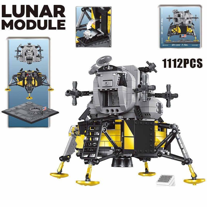 Teknik serisi blok Apollo 11 ay Lander modeli yapı kitleri blokları MOC teknİk araba araçlar tuğla oyuncaklar çocuklar için hediyeler