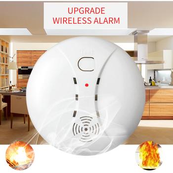 Bezprzewodowy czujnik alarmu dymu czujnik alarmu dla system alarmowy w domu 433MHZ wifi Tuya alarm przeciwpożarowy System alarmowy do domu dym ochrony przeciwpożarowej tanie i dobre opinie CN (pochodzenie) Czujka dymu Wireless Smoke Detector 60㎡ more than 85dB -10 to 60 degree more than 150m in open area