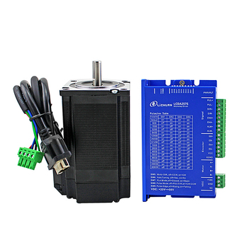 Driver motor stepper Servo LCDA257S +Nema23 stepper motor 57 with encoder with 3M cable for CNC Router machine screw with linear guide hgr15 hpv6 linear module nema23 2 8a 56mm stepper motor same