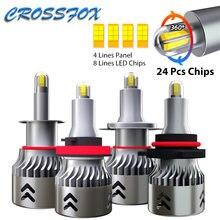 24 фишки h1 h3 светодиодный h7 h11 9006 9005 hb3 светильник