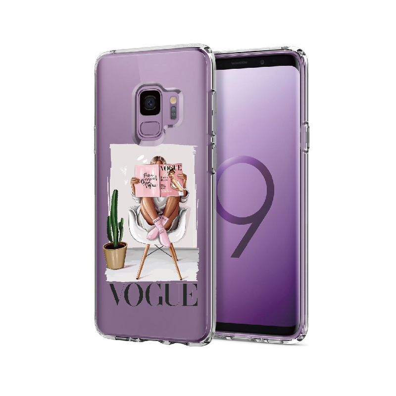Fashion Queen Classy Girl For Samsung Galaxy Note 8 9 10 A7 A8 S8 S9 S10 S20 Plus Soft TPU Crystal Slim Protective Clear Case