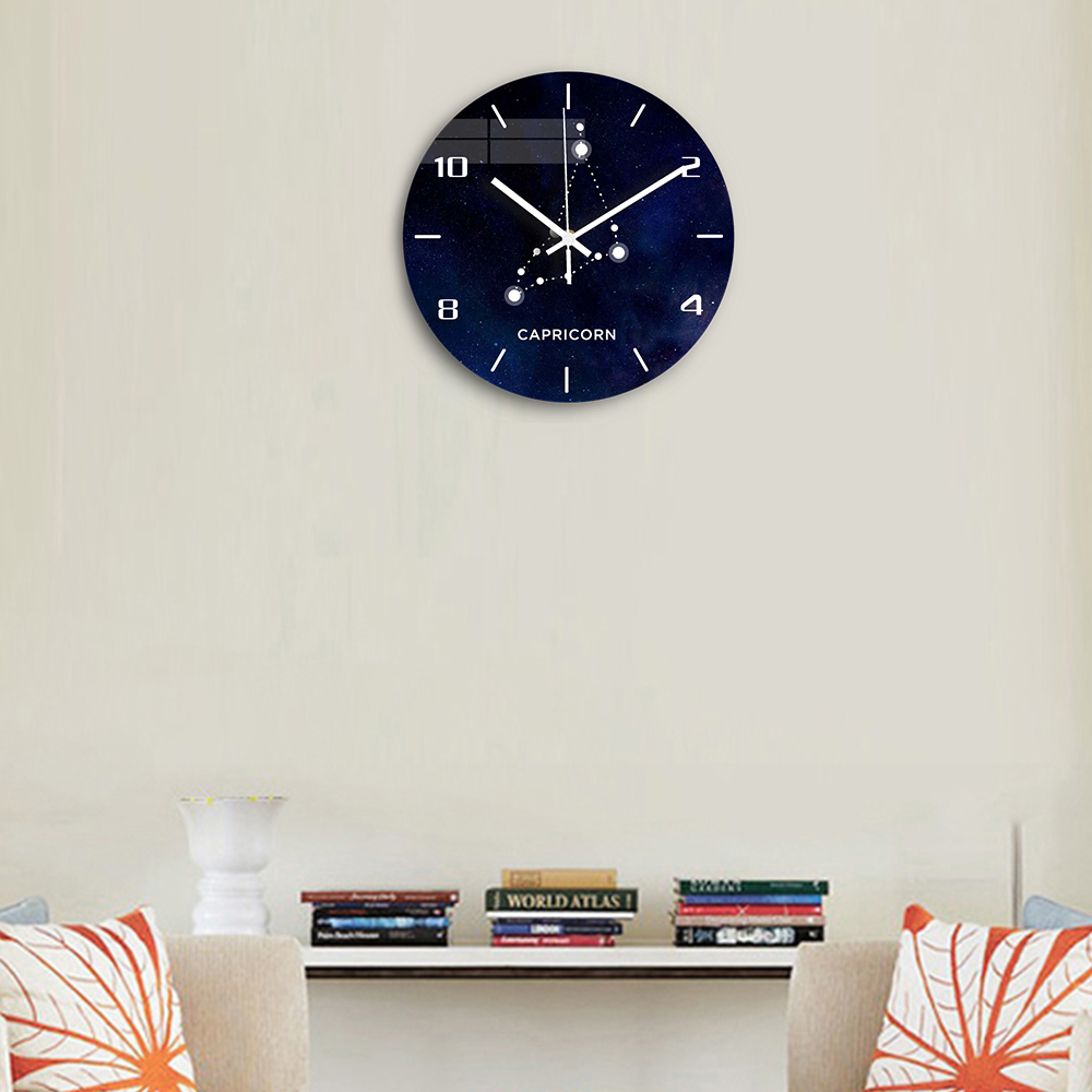 Capricorn Acrylic Digital Wall Clock Modern Design Silent Clockwork Decorative 3D Wall Clock for Living Room Watch Home Decor(China)