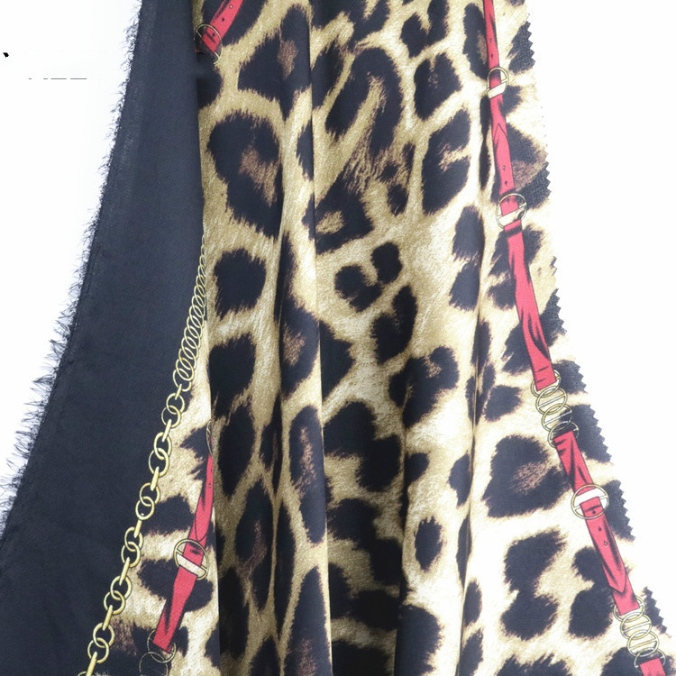 2019 новый тканый Леопардовый Атлас пузырьковый принт ткань европейский и американский Весна и лето платье рубашка Женская ткань